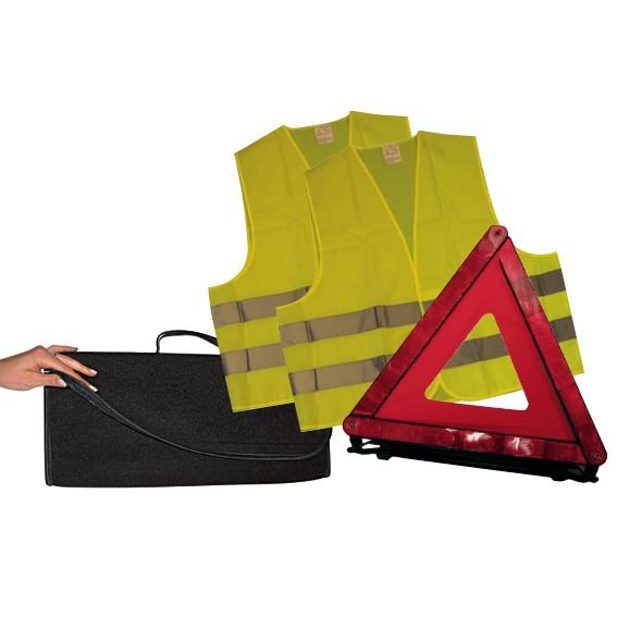 kit triangle 2 gilets couv de survie automobile club association. Black Bedroom Furniture Sets. Home Design Ideas