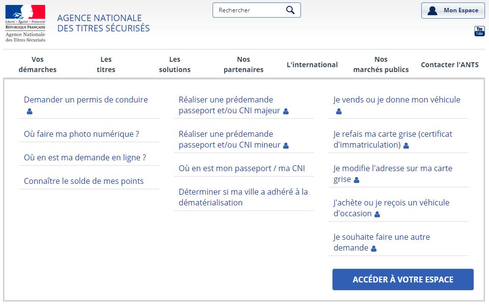 site du gouvernement carte grise Ants.gouv.fr : Le SEUL site officiel pour les démarches d