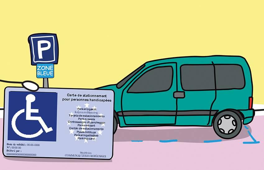 carte stationnement handicapé zone bleue Stationnement en zones bleues pour les personnes handicapées