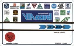 Viacard 25 euros