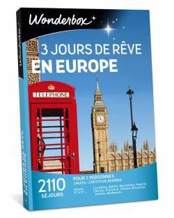 Coffret cadeau - 3 jours de rêve en Europe