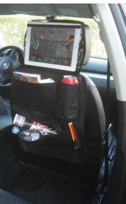 Organiseur de voiture multi-poches et emplacement tablette