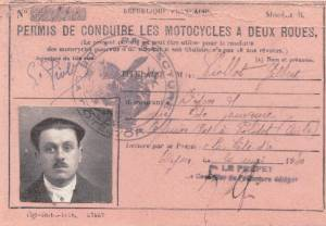 Permis conduire 1930