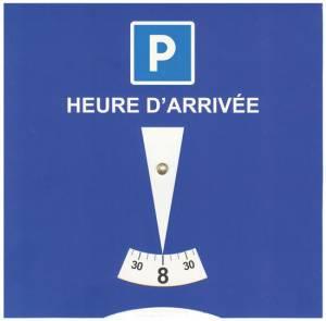 disque zone bleue