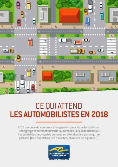 Ce qui attend les automobilistes en 2018